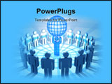PowerPoint Template - communications globe men business global people teamwork concepts earth ideas