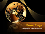 PowerPoint Template - high quality 3d art showing a caged structure of the earth with reflective floor