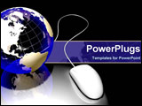 PowerPoint Template - globe and mouse