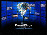 PowerPoint Template - High Resolution Planet earth sphere of video screens