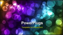 PowerPoint Template - abstract glowing circles on a colorful background please visit my portfolio for similar images