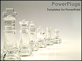 PowerPoint Template - crystal pieces of chess