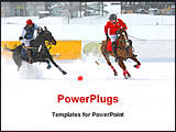 PowerPoint Template - a winter polo match is going on