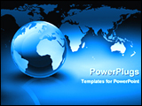 PowerPoint Template - 3d globe in front of world