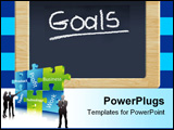 PowerPoint Template - Chalkboard with writing