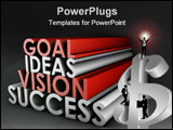 PowerPoint Template - Vision Success From Goal and Idea in 3d