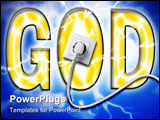 PowerPoint Template - the power of god with white socket