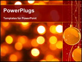 PowerPoint Template - Gold Christmas background from luminous lanterns.