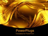 PowerPoint Template - gold abstract lighting and swirls