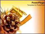 PowerPoint Template - Glittery Christmas tree d�cor.