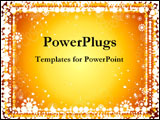PowerPoint Template - A glowing, golden background.