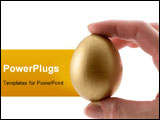 PowerPoint Template - a golden egg being held between two fingers