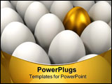 PowerPoint Template - An outstanding golden egg among other normal eggs