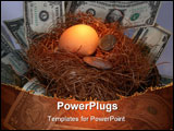 PowerPoint Template - Egg in nest with bill and coins
