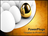 PowerPoint Template - golden egg concept out of the crowd