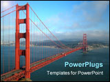 PowerPoint Template - the golden gate bridge in san francisco as the evening fog begins to roll in