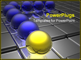 PowerPoint Template - golden leader on business way 3d render
