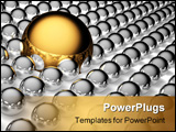 PowerPoint Template - Big gold and small steel balls