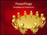 PowerPoint Template - Computer generated image with clipping path. Meeting.