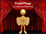 PowerPoint Template - A Concept And Presentation Figure In 3D Vector