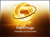 PowerPoint Template - golden shining world elegant background for your art design