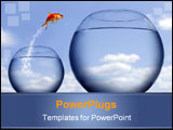 PowerPoint Template - Goldfish jumping out of the water