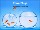 PowerPoint Template - Photo of goldfish jumping out of the water