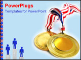 PowerPoint Template - 2 gold medals