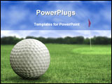 PowerPoint Template - golf ball in a course with striking colours