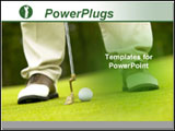 PowerPoint Template - Close up of man playing golf