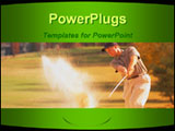 PowerPoint Template - A man playing golf