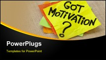 PowerPoint Template - Motivational concept - got motivation question - handwriting on a yellow sticky note against canvas board