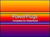PowerPoint Template - Deep purple  orange and red gradient