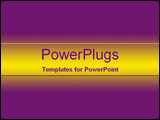 PowerPoint Template - Bright yellow and deep purple gradient