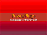PowerPoint Template - Various warm reds gradient
