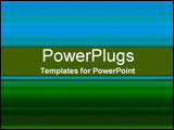 PowerPoint Template - Bright blue and dark green gradient