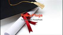 PowerPoint Template - Grad hat and Diploma