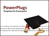 PowerPoint Template - A cap and diploma
