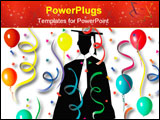PowerPoint Template - The graduate ready for a big party-celebration