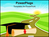 PowerPoint Template - Celebrating graduation day and a bright new future ahead