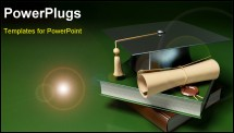 PowerPoint Template - graduation degree