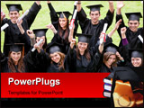 PowerPoint Template - group of graduation students looking happy outdoors