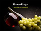 PowerPoint Template - Still-life with bunch of grapes and red wine