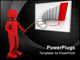 PowerPoint Template - 3d person for company presentation. rendered image