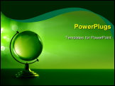 PowerPoint Template - Green glass globe high resolution image please visit my portfolio for similar images
