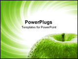 PowerPoint Template - Macro image of a red apple. Great shoot