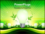 PowerPoint Template - Green template, with lamp for your logo