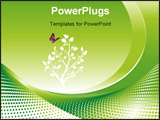 PowerPoint Template - Environmental concept background vector illustration layers file.