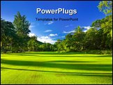 PowerPoint Template - Golf field at island Praslin Seychelles - sport background