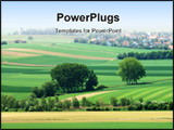 PowerPoint Template - spring landscape, germany